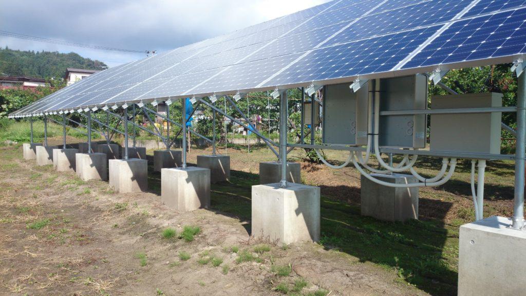 太陽光発電設備1基目