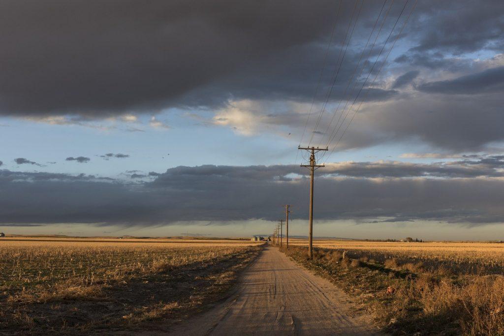 電柱がある農地
