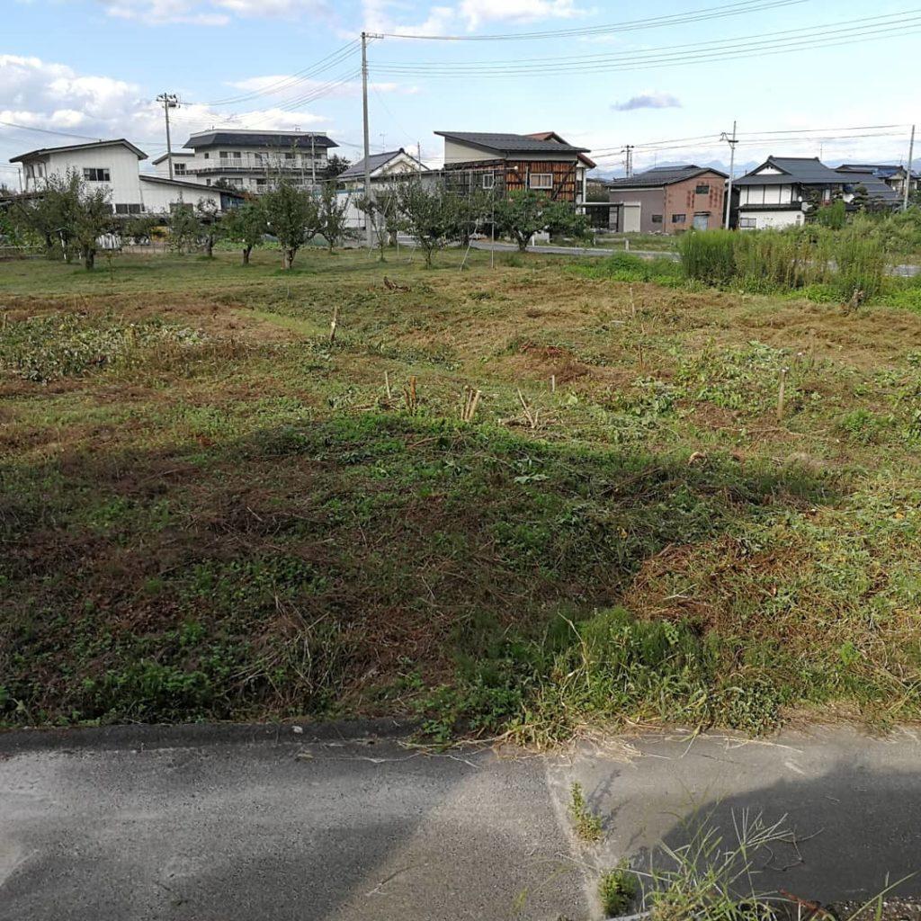 耕作放棄地整地完了2